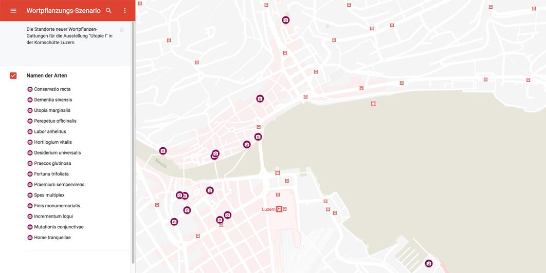 Karte-Wortpflanzungsszenario
